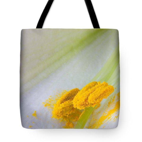 Easter Lily Macro Tote Bag