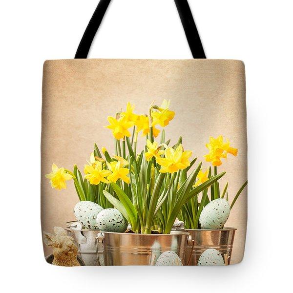 Easter Setting Tote Bag by Amanda Elwell