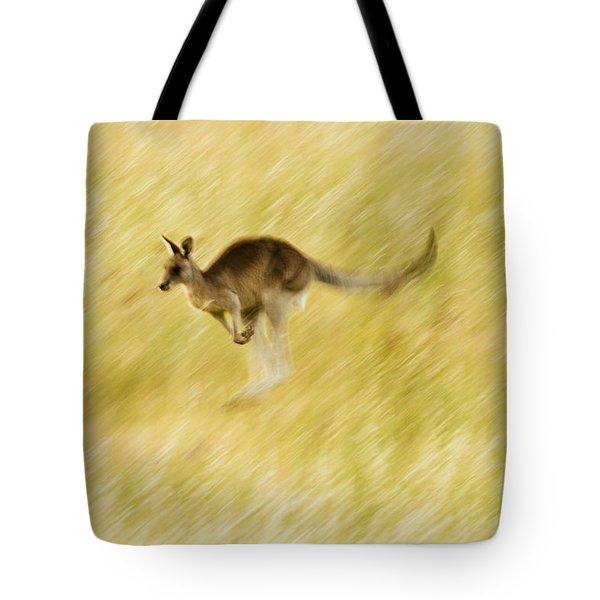Eastern Grey Kangaroo Hopping Tote Bag