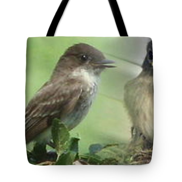 Eastern Phoebe Family Tote Bag