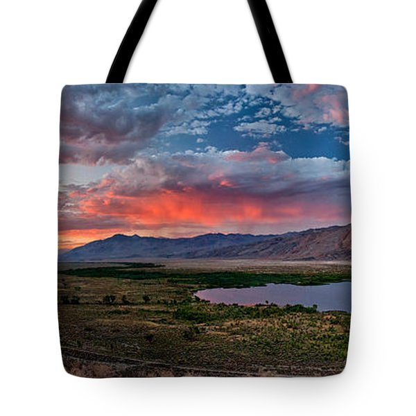 Eastern Sierra Sunset Tote Bag by Cat Connor