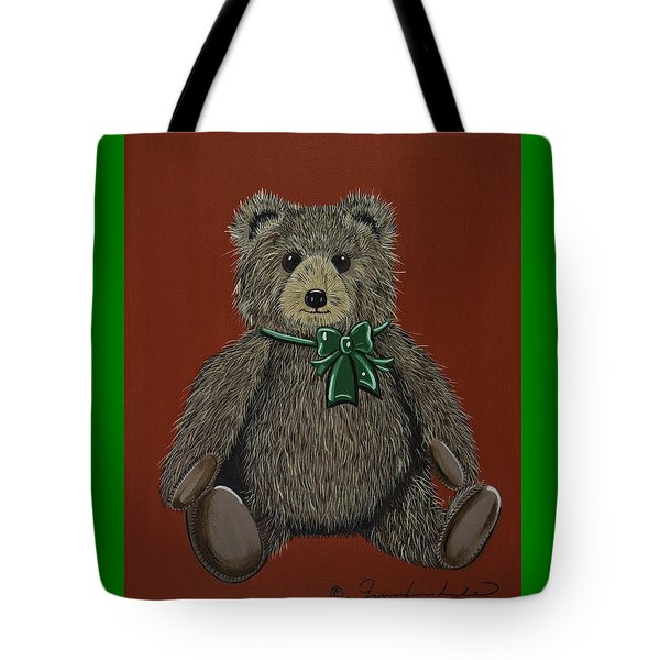 Tote Bag featuring the painting Easton's Teddy by Jennifer Lake