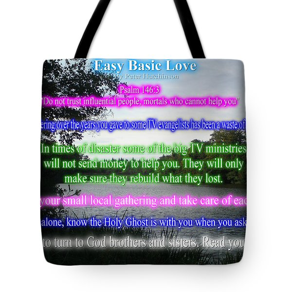 Easy Basic Love Tote Bag