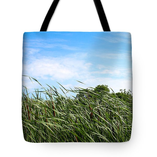 Easy Breezy Cattails Tote Bag