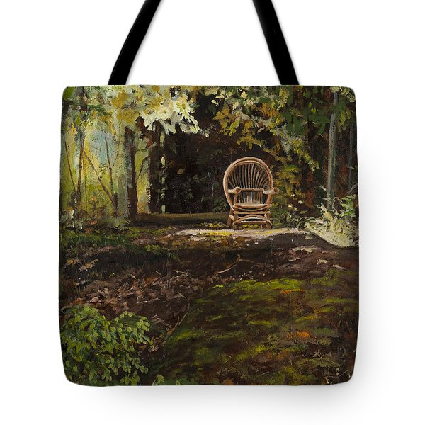 Easy Chair Tote Bag by Carla Dabney