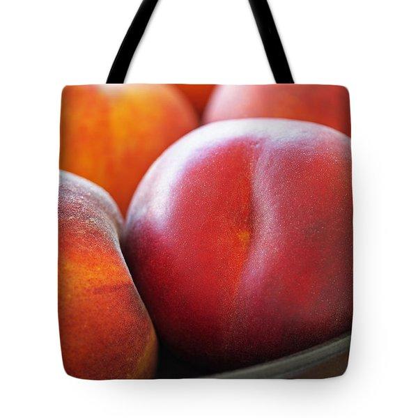 Eat A Peach Tote Bag