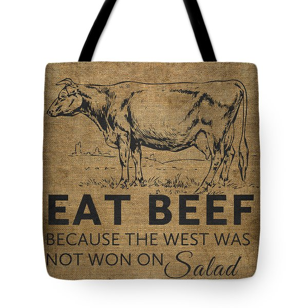 Eat Beef Tote Bag