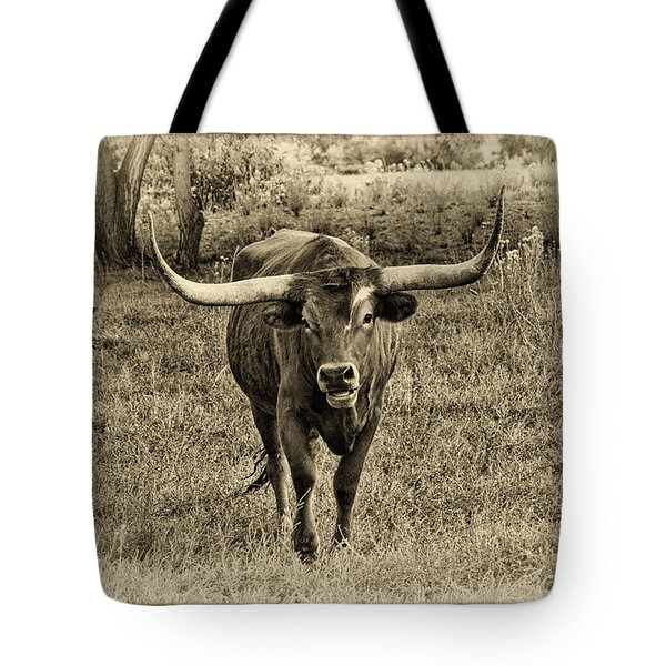 Eat Leaf Not Beef Sepia Tote Bag
