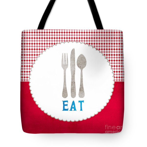Eat Tote Bag by Linda Woods
