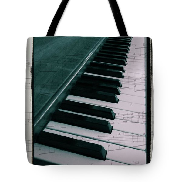 Eat Sleep Play Piano Tote Bag by Dan Sproul