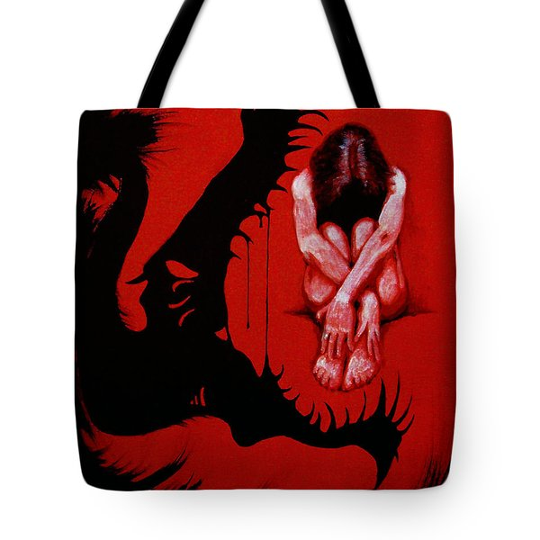 Tote Bag featuring the painting Eater by Dale Loos Jr