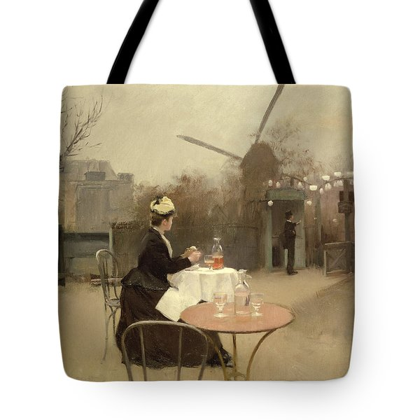 Eating Al Fresco Tote Bag by Ramon Casas i Carbo