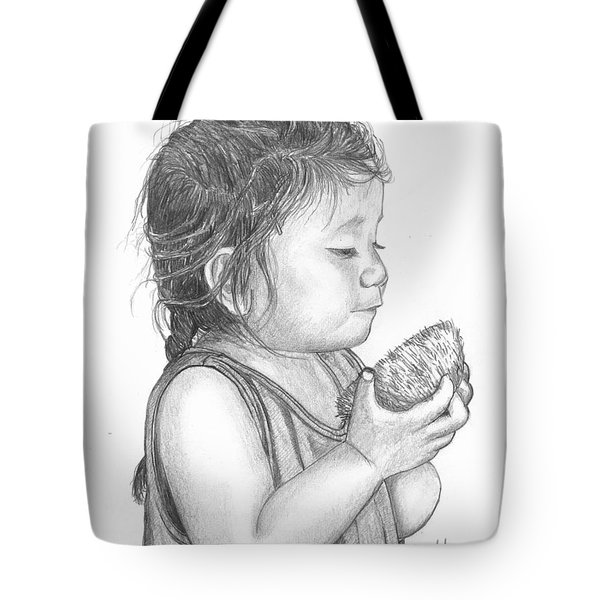 Eating Coconut Tote Bag by Lew Davis
