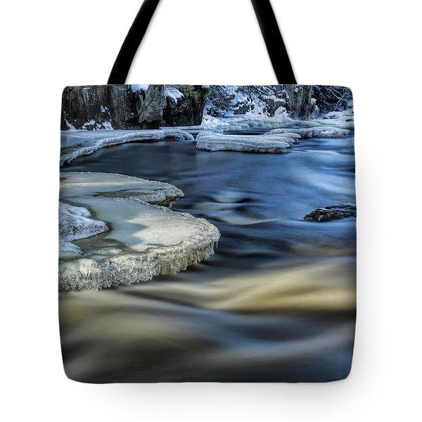 Eau Claire River Ice Tote Bag