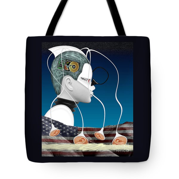 Eavesdropper Tote Bag by Keith Dillon