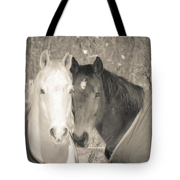 Ebony And Ivory Tote Bag by Jerri Moon Cantone