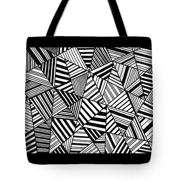 Tote Bag featuring the painting Ebony And Ivory by Susie Weber