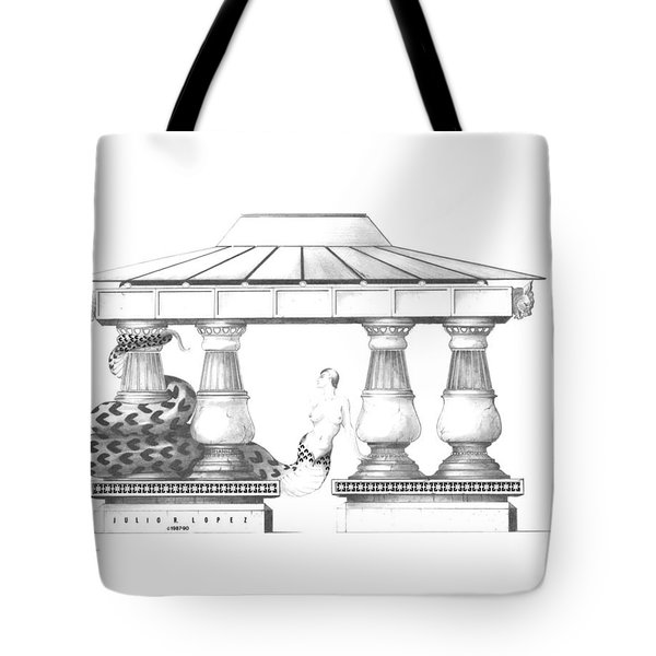 Echidna Tote Bag by Julio Lopez