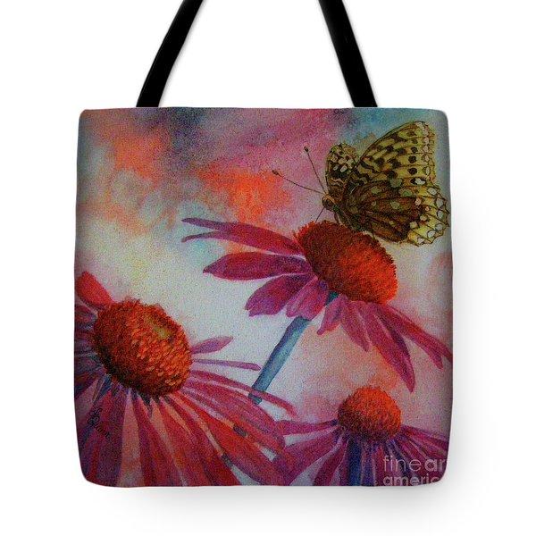 Echinacea Fritillaria Tote Bag