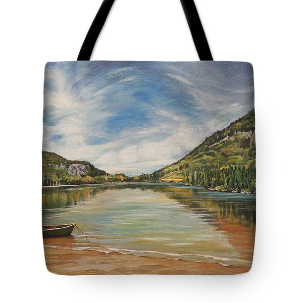 Echo Lake In Franconia Notch New Hampshire Tote Bag