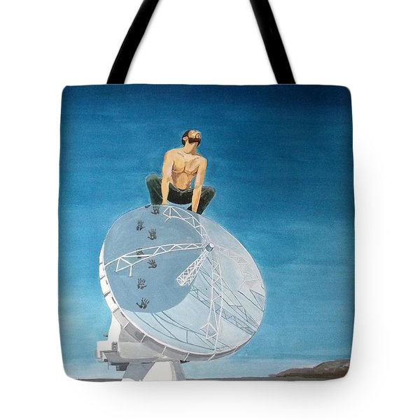 Tote Bag featuring the painting Echoes by Lazaro Hurtado