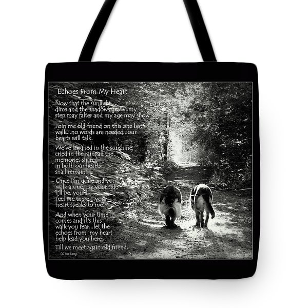 Echos From My Heart Tote Bag