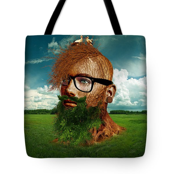 Eco Hipster Tote Bag by Marian Voicu