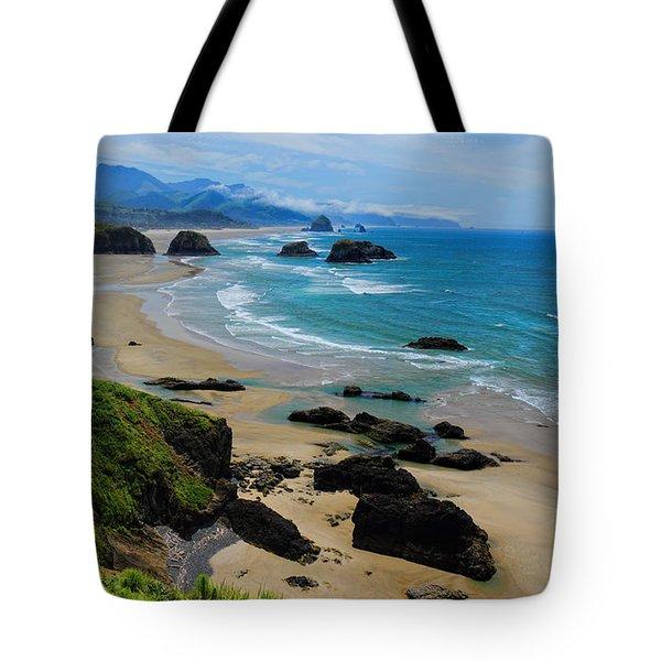 Ecola State Park Beach Tote Bag