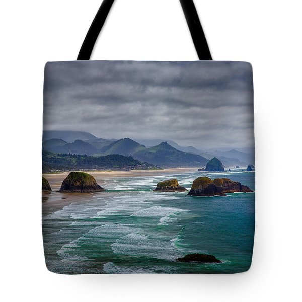 Ecola Viewpoint Tote Bag by Rick Berk