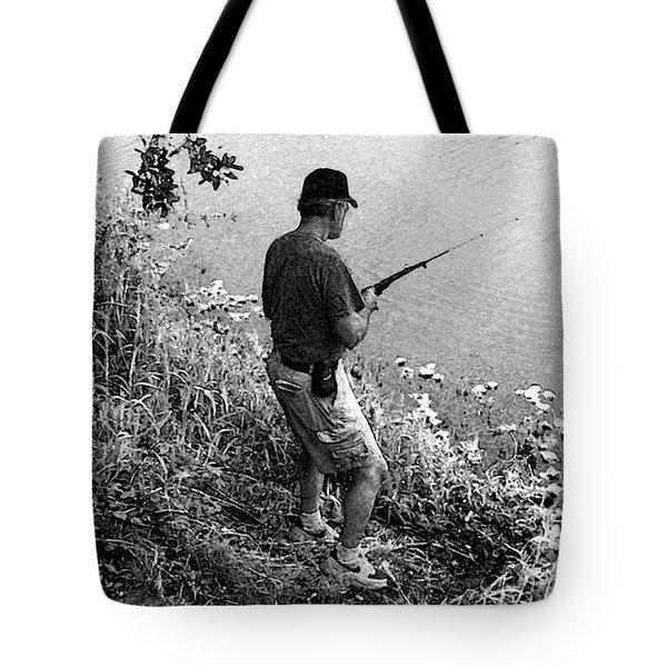 Ed Fishing Tote Bag by Lenore Senior and Sharon Burger