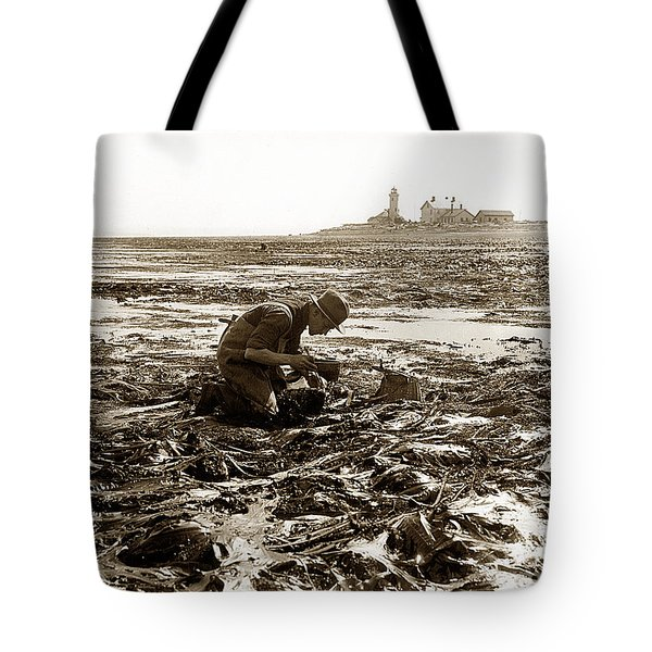 Ed Ricketts At Point Wilson Lighthouse In Port Townsend Wa 1930 Tote Bag