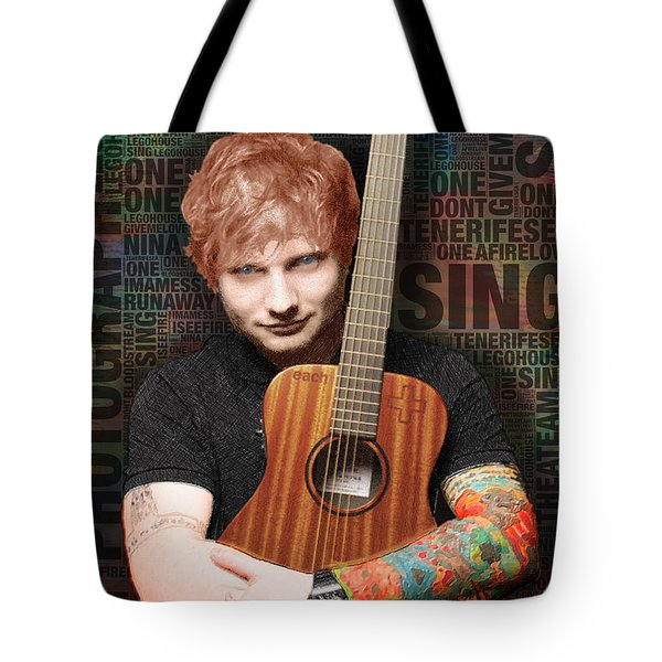 Ed Sheeran And Song Titles Tote Bag