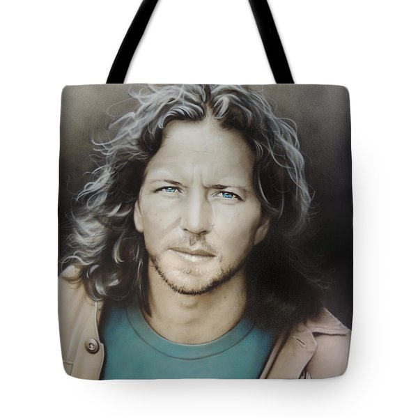 ' Eddie Vedder ' Tote Bag by Christian Chapman Art
