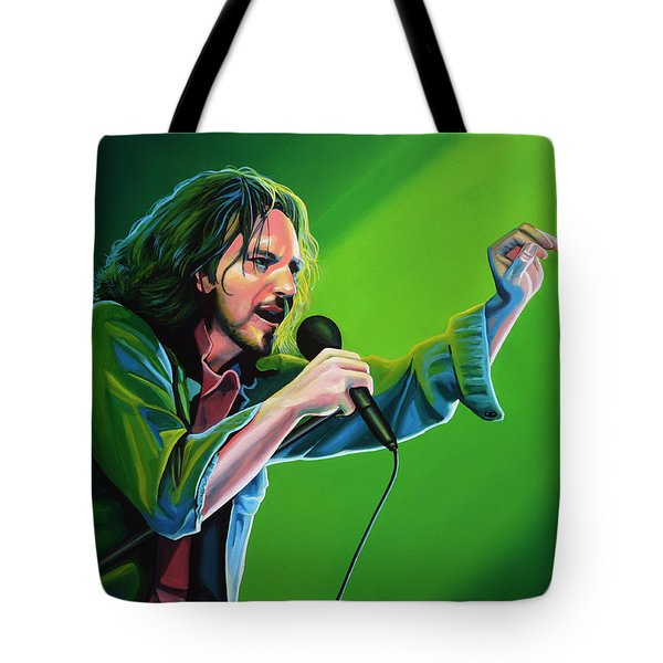 Eddie Vedder Of Pearl Jam Tote Bag by Paul Meijering
