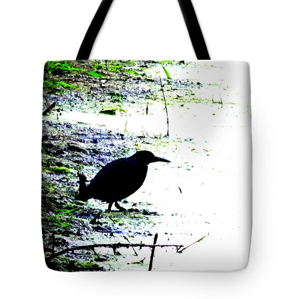 Edgar Allan Poe's Raven On The Edge Of Oblivion By Ron Tackett Tote Bag