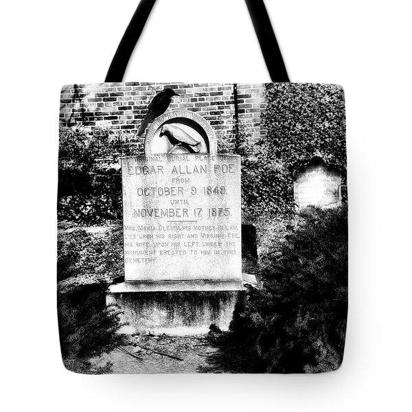 Edgar Allen Poe Grave Site Baltimore Tote Bag by Bill Cannon