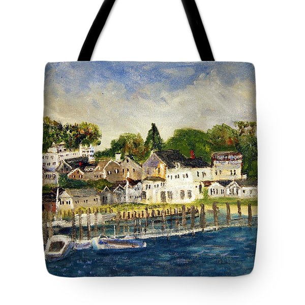 Edgartown Harbor Tote Bag