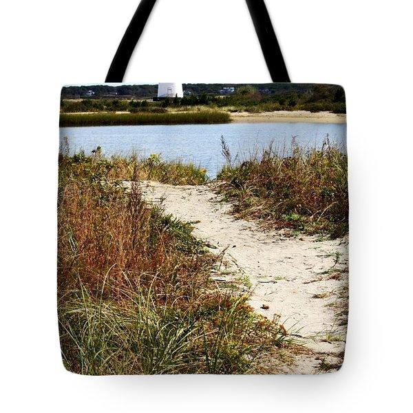 Edgartown Lighthouse Tote Bag by Carol Groenen