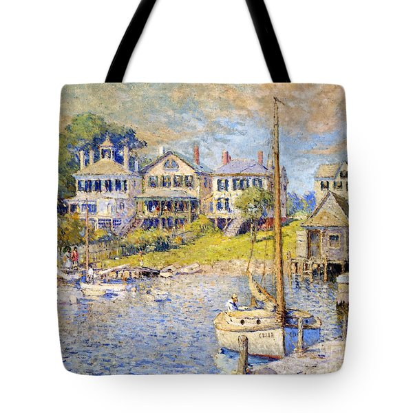 Edgartown  Martha's Vineyard Tote Bag by Colin Campbell Cooper
