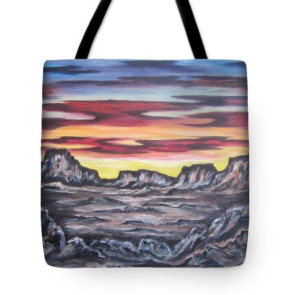 Edge Of The Desert Tote Bag by Cheryl Pettigrew