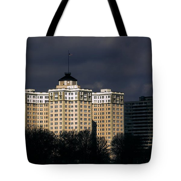 Edgewater Beach Apartments Tote Bag by Kathleen Scanlan