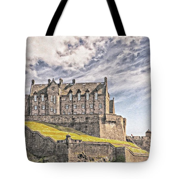 Edinburgh Castle Painting Tote Bag