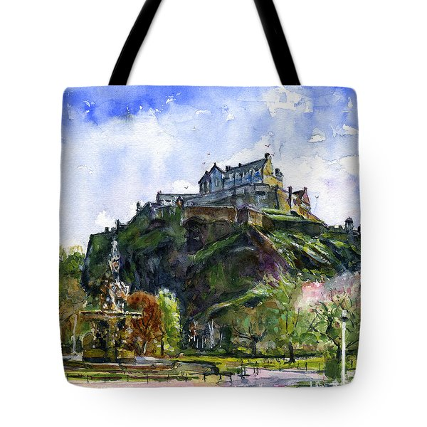 Edinburgh Castle Scotland Tote Bag