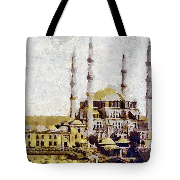 Edirne Turkey Old Town Tote Bag by Georgi Dimitrov