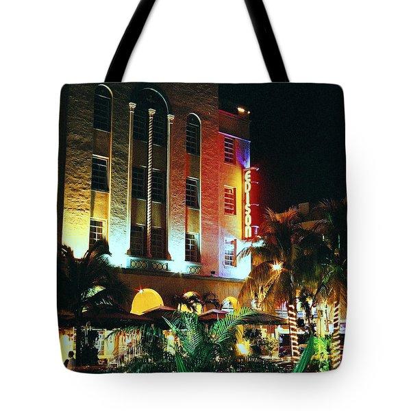 Edison Hotel Film Image Tote Bag