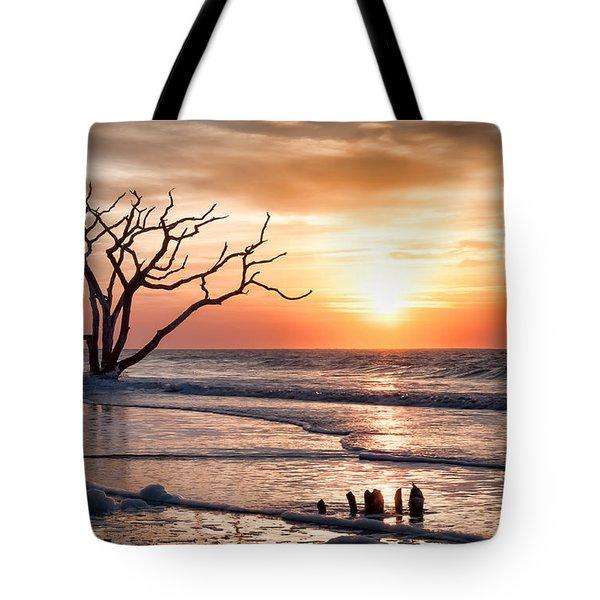 Edisto Sunrise Tote Bag by Curtis Cabana