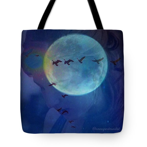 Edit To The Poem Oh Moon Tote Bag