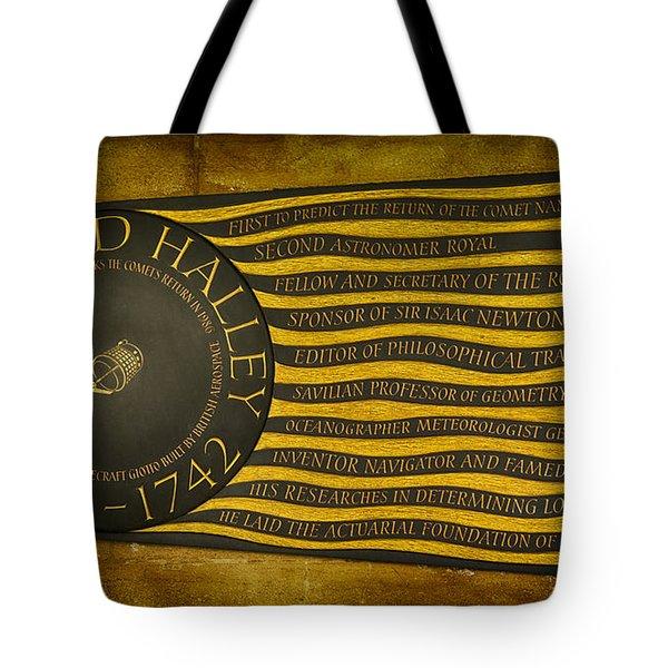 Edmond Halley Memorial Tote Bag by Stephen Stookey