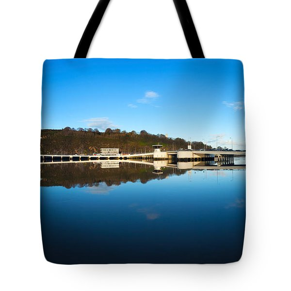 Edmund Rice Bridge Across A River Tote Bag