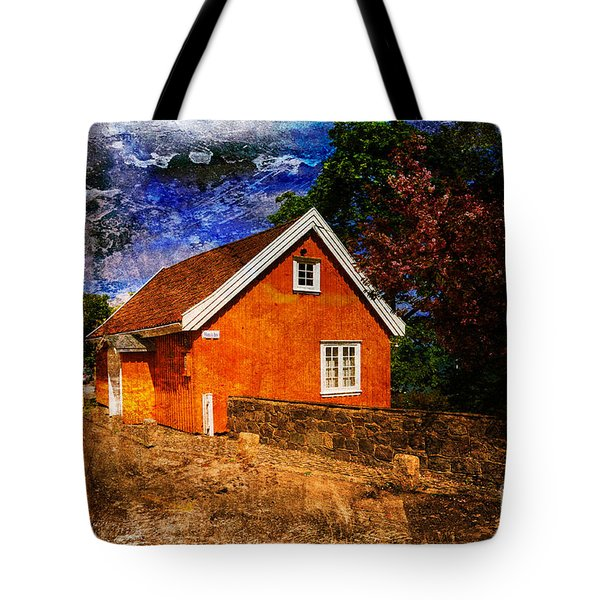 Edvard Munch's House Tote Bag by Randi Grace Nilsberg